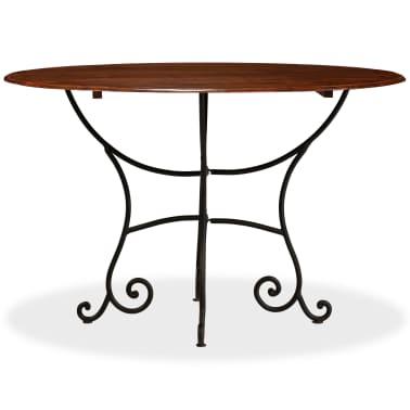 vidaXL Jídelní stůl masivní akáciové dřevo sheeshamový povrch 120x76cm[2/12]