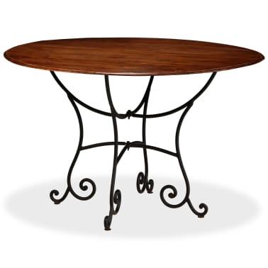 vidaXL Jídelní stůl masivní akáciové dřevo sheeshamový povrch 120x76cm[11/12]