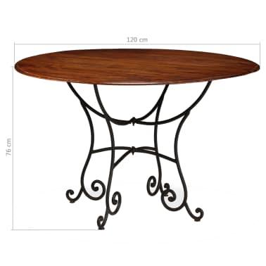 vidaXL Jídelní stůl masivní akáciové dřevo sheeshamový povrch 120x76cm[12/12]