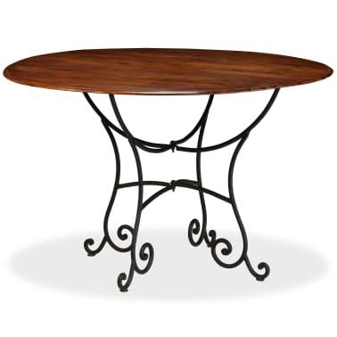 vidaXL Jídelní stůl masivní akáciové dřevo sheeshamový povrch 120x76cm[8/12]