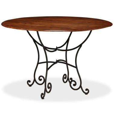 vidaXL Jídelní stůl masivní akáciové dřevo sheeshamový povrch 120x76cm[10/12]