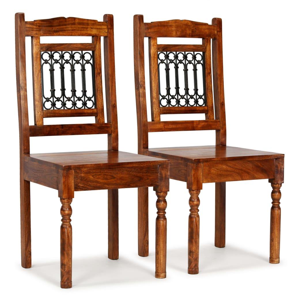 vidaXL Καρέκλες Τραπεζαρίας Κλασικές 2 τεμ. Ξύλο/Φινίρισμα Sheesham