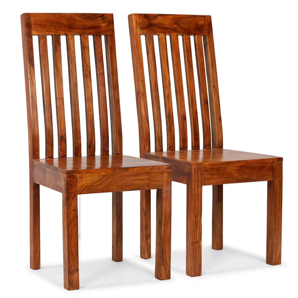 vidaXL Καρέκλες Τραπεζαρίας Μοντέρνες 2 τεμ. Ξύλο / Φινίρισμα Sheesham