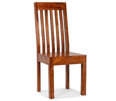 vidaXL Dining Chairs 2 pcs Solid Wood with Sheesham Finish Modern[7/10]