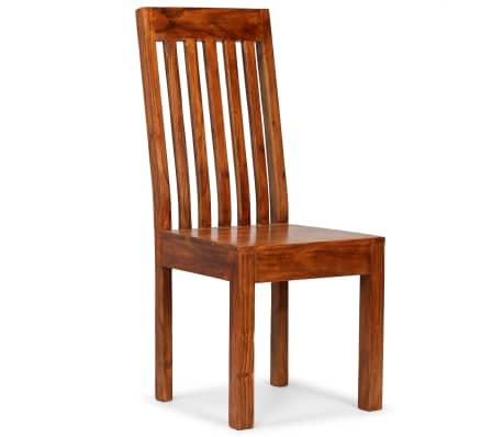 vidaXL Dining Chairs 2 pcs Solid Wood with Sheesham Finish Modern[8/10]