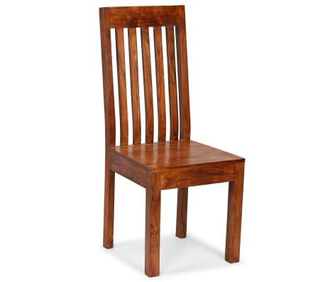 vidaXL Dining Chairs 2 pcs Solid Wood with Sheesham Finish Modern[9/10]
