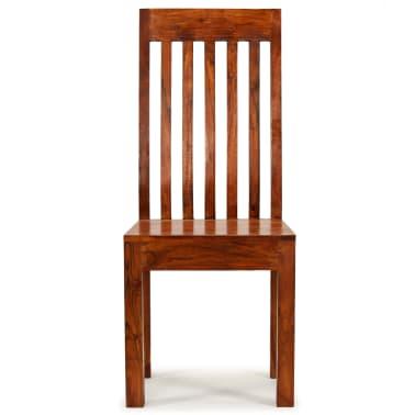 vidaXL Dining Chairs 2 pcs Solid Wood with Sheesham Finish Modern[2/10]