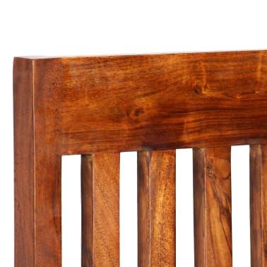 vidaXL Dining Chairs 2 pcs Solid Wood with Sheesham Finish Modern[3/10]