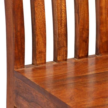 vidaXL Dining Chairs 2 pcs Solid Wood with Sheesham Finish Modern[4/10]