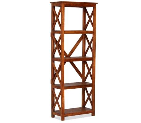 "vidaXL Bookshelf Solid Acacia Wood Sheesham Finish 23.6""x11.8""x63.0""[1/13]"