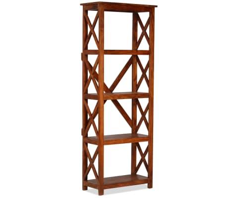 "vidaXL Bookshelf Solid Acacia Wood Sheesham Finish 23.6""x11.8""x63.0""[12/13]"