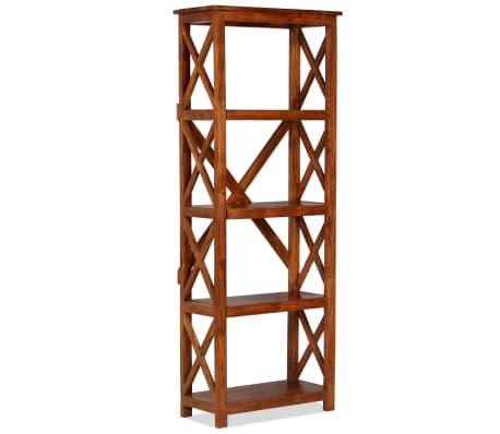 "vidaXL Bookshelf Solid Acacia Wood Sheesham Finish 23.6""x11.8""x63.0""[13/13]"