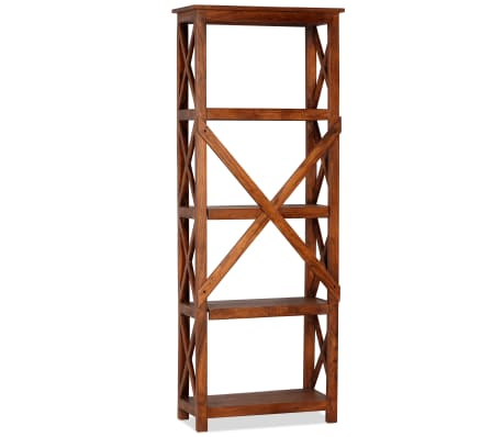 "vidaXL Bookshelf Solid Acacia Wood Sheesham Finish 23.6""x11.8""x63.0""[4/13]"