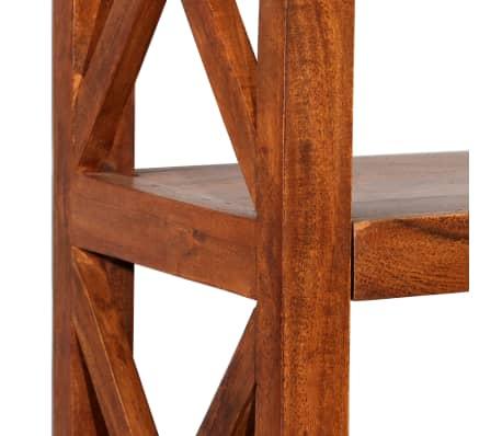"vidaXL Bookshelf Solid Acacia Wood Sheesham Finish 23.6""x11.8""x63.0""[5/13]"