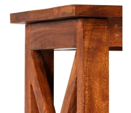 "vidaXL Bookshelf Solid Acacia Wood Sheesham Finish 23.6""x11.8""x63.0""[7/13]"