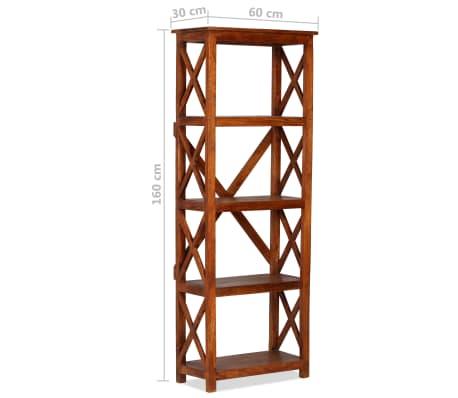 "vidaXL Bookshelf Solid Acacia Wood Sheesham Finish 23.6""x11.8""x63.0""[9/13]"