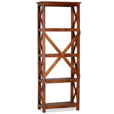 "vidaXL Bookshelf Solid Acacia Wood Sheesham Finish 23.6""x11.8""x63.0""[2/13]"