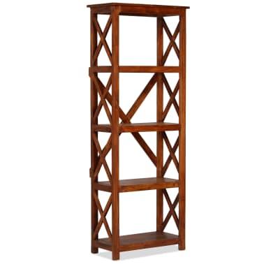 "vidaXL Bookshelf Solid Acacia Wood Sheesham Finish 23.6""x11.8""x63.0""[11/13]"