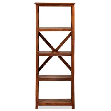 "vidaXL Bookshelf Solid Acacia Wood Sheesham Finish 23.6""x11.8""x63.0""[3/13]"