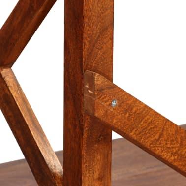 "vidaXL Bookshelf Solid Acacia Wood Sheesham Finish 23.6""x11.8""x63.0""[6/13]"
