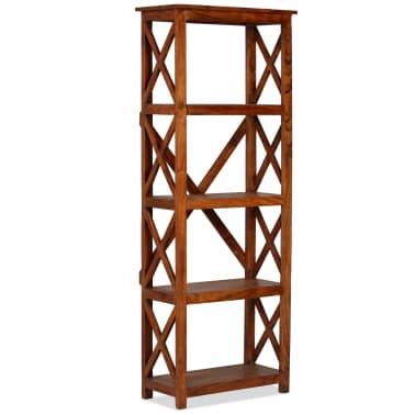 "vidaXL Bookshelf Solid Acacia Wood Sheesham Finish 23.6""x11.8""x63.0""[10/13]"