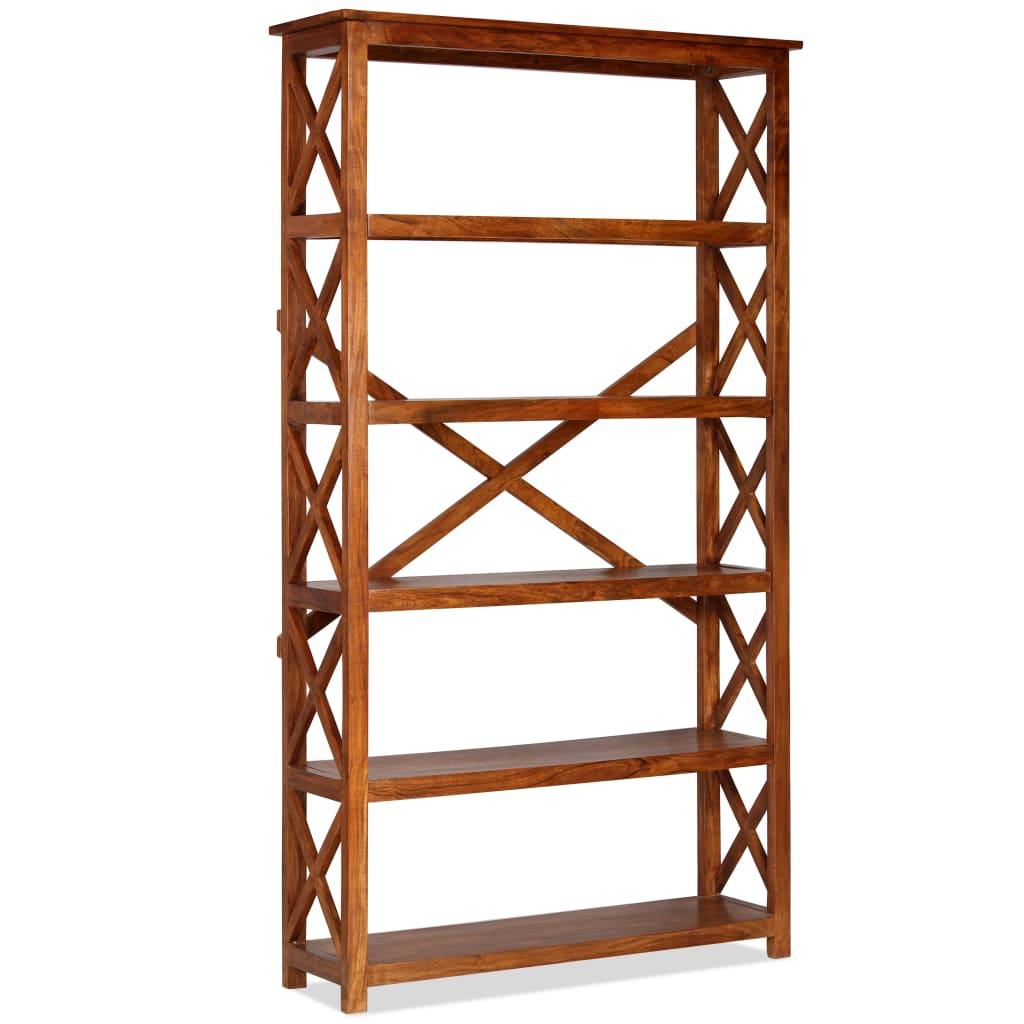 vidaXL Bibliotecă 100x30x180 cm lemn masiv salcâm finisaj palisandru poza vidaxl.ro