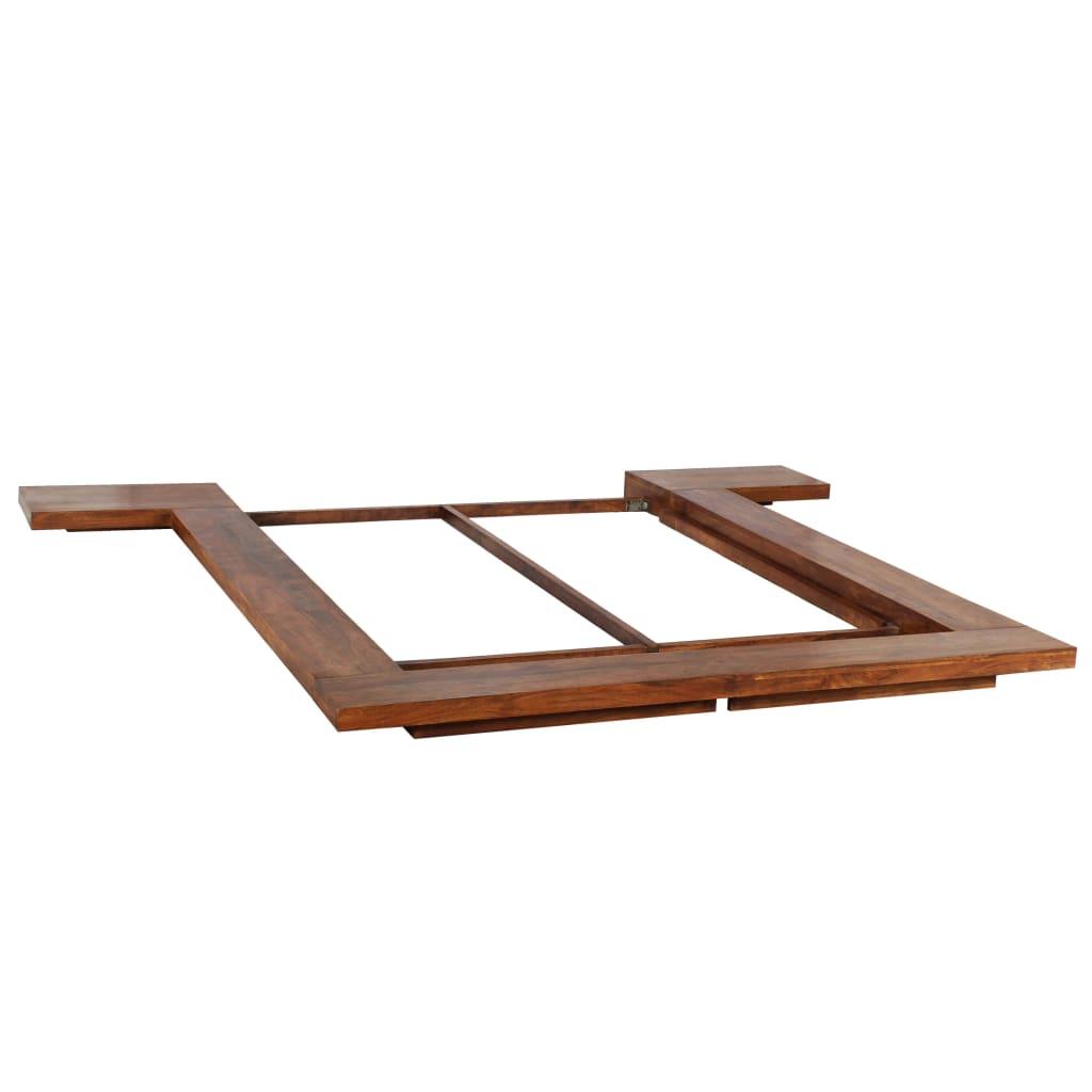 vidaXL Rám postele japonský futonový styl masivní dřevo 140 x 200 cm