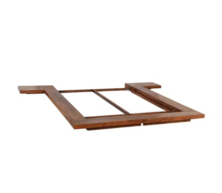 vidaXL Bedframe Japanse stijl futon massief hout 140x200 cm