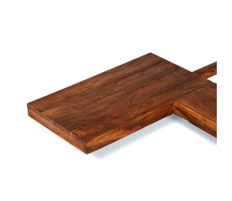vidaXL Cadre de lit Futon Style japonais Bois Finition Sheesham 1,4x2m[4/7]