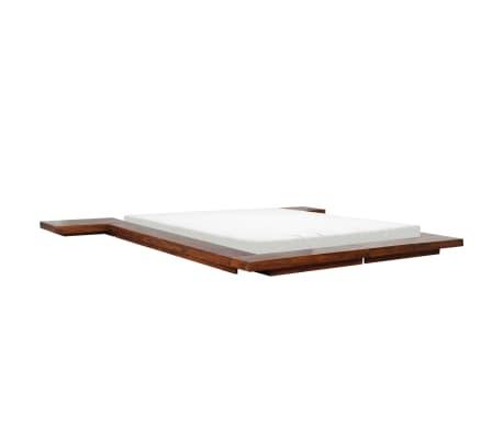 vidaXL Cadre de lit Futon Style japonais Bois Finition Sheesham 1,4x2m[5/7]