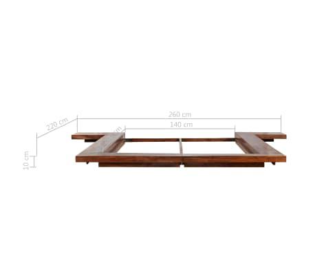 vidaXL Cadre de lit Futon Style japonais Bois massif 140x200 cm[7/7]