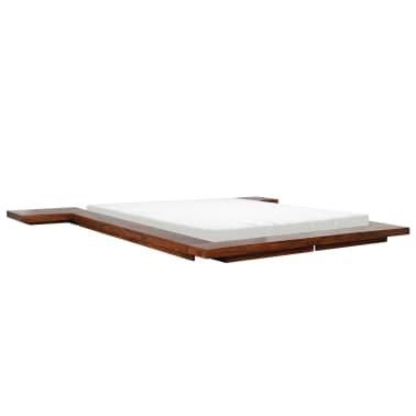 vidaXL Cadre de lit Futon Style japonais Bois massif 140x200 cm[5/7]