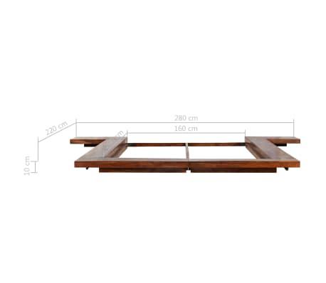 vidaXL Bettgestell Japanischer Stil Futon Massivholz Sheesham 1,6x2m[7/7]
