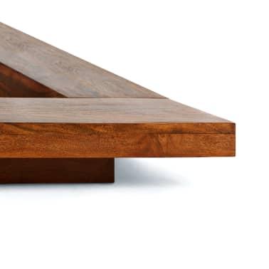 acheter vidaxl cadre de lit futon style japonais bois finition sheesham 1 6x2m pas cher. Black Bedroom Furniture Sets. Home Design Ideas