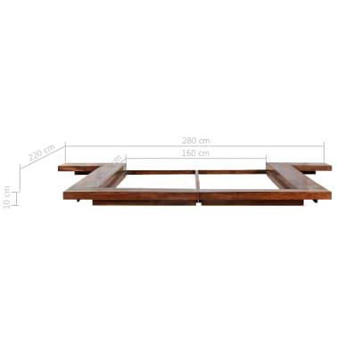 vidaXL Bettgestell Japanischer Stil Futon Massivholz Sheesham 1,6x2m[6/7]