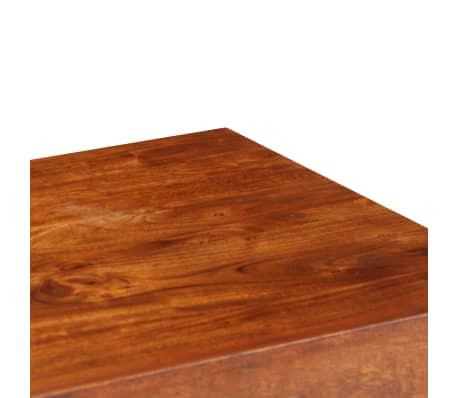 vidaXL Bureau Bois d'acacia et finition en sesham 110x50x76 cm[5/13]