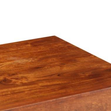 vidaXL Rašom. stalas, akac. med. su rausv. dalberg. apd., 110x50x76cm[5/13]