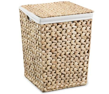 vidaXL Juego de cestos para la ropa 2 unidades de jacinto de agua[5/9]