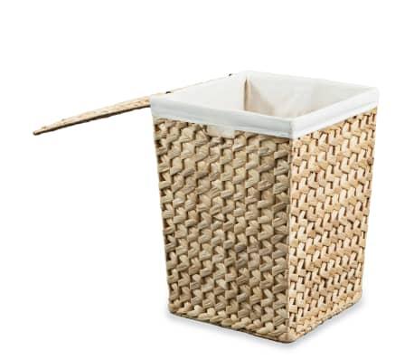 vidaXL Juego de cestos para la ropa 2 unidades de jacinto de agua[6/9]