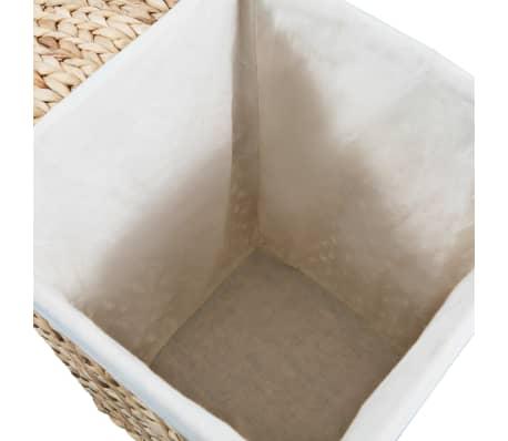 vidaXL Juego de cestos para la ropa 2 unidades de jacinto de agua[7/9]