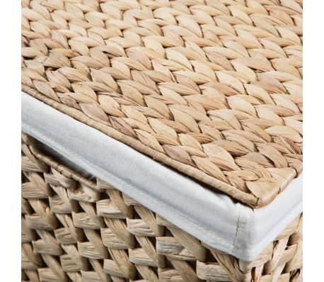 vidaXL Juego de cestos para la ropa 2 unidades de jacinto de agua[8/9]