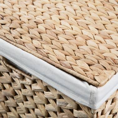 vidaXL vasketøjskurvesæt i 2 dele vandhyacint[8/9]