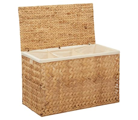 vidaXL Laundry Basket 82x42.5x52.5 cm Water Hyacinth-picture
