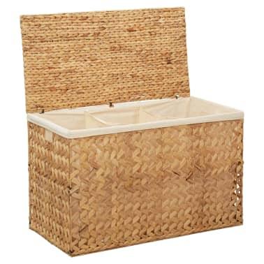 vidaXL Cestos para la ropa sucia de jacinto de agua 82x42,5x52,5 cm[1/7]