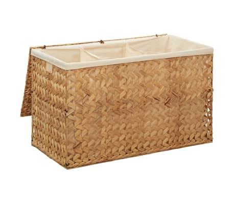 vidaXL Cestos para la ropa sucia de jacinto de agua 82x42,5x52,5 cm[4/7]