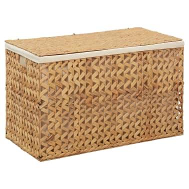 vidaXL Cestos para la ropa sucia de jacinto de agua 82x42,5x52,5 cm[2/7]