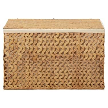 vidaXL Cestos para la ropa sucia de jacinto de agua 82x42,5x52,5 cm[3/7]