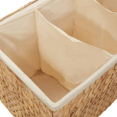 vidaXL Cestos para la ropa sucia de jacinto de agua 82x42,5x52,5 cm[5/7]
