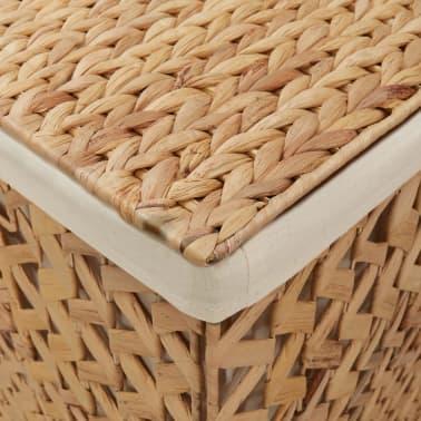 vidaXL Cestos para la ropa sucia de jacinto de agua 82x42,5x52,5 cm[6/7]