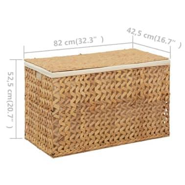 vidaXL Cestos para la ropa sucia de jacinto de agua 82x42,5x52,5 cm[7/7]